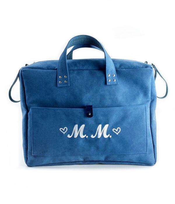 Borsa mamma mommy bag blu