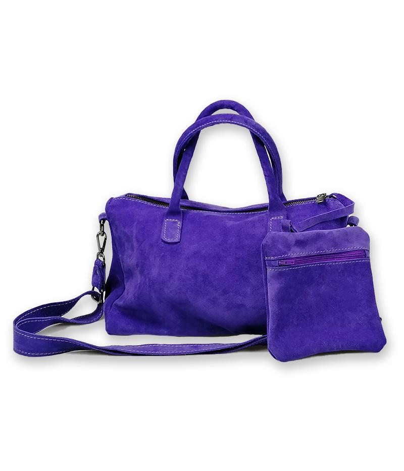 borsa personalizzata con nome viola