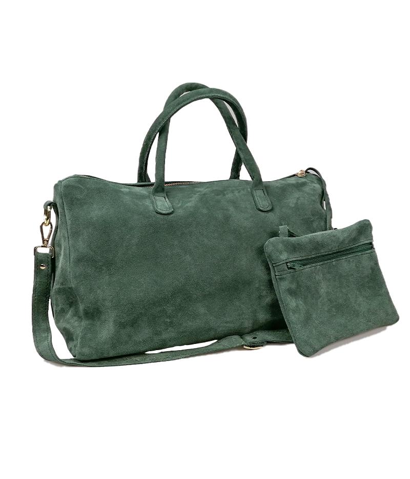 borsa con iniziali verde