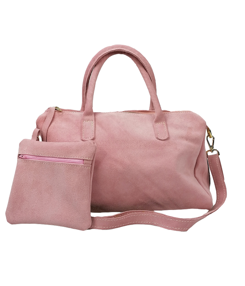 borsa con iniziali rosa