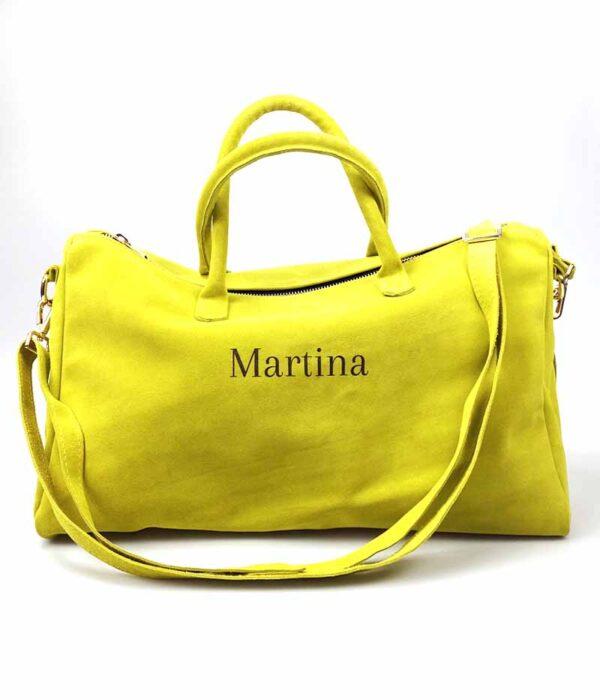 borsa personalizzata gialla