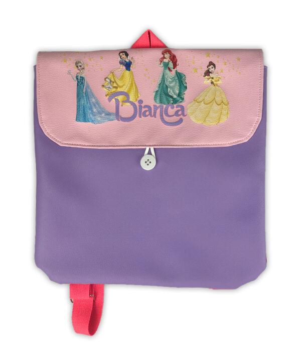 Zainetto Principesse Disney personalizzato con nome