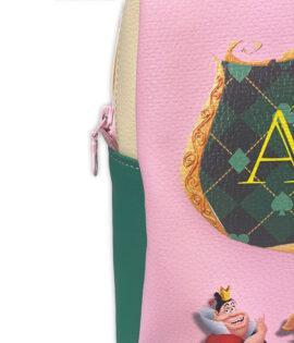 Zaino scuola personalizzato con nome Alice nel paese delle meraviglie