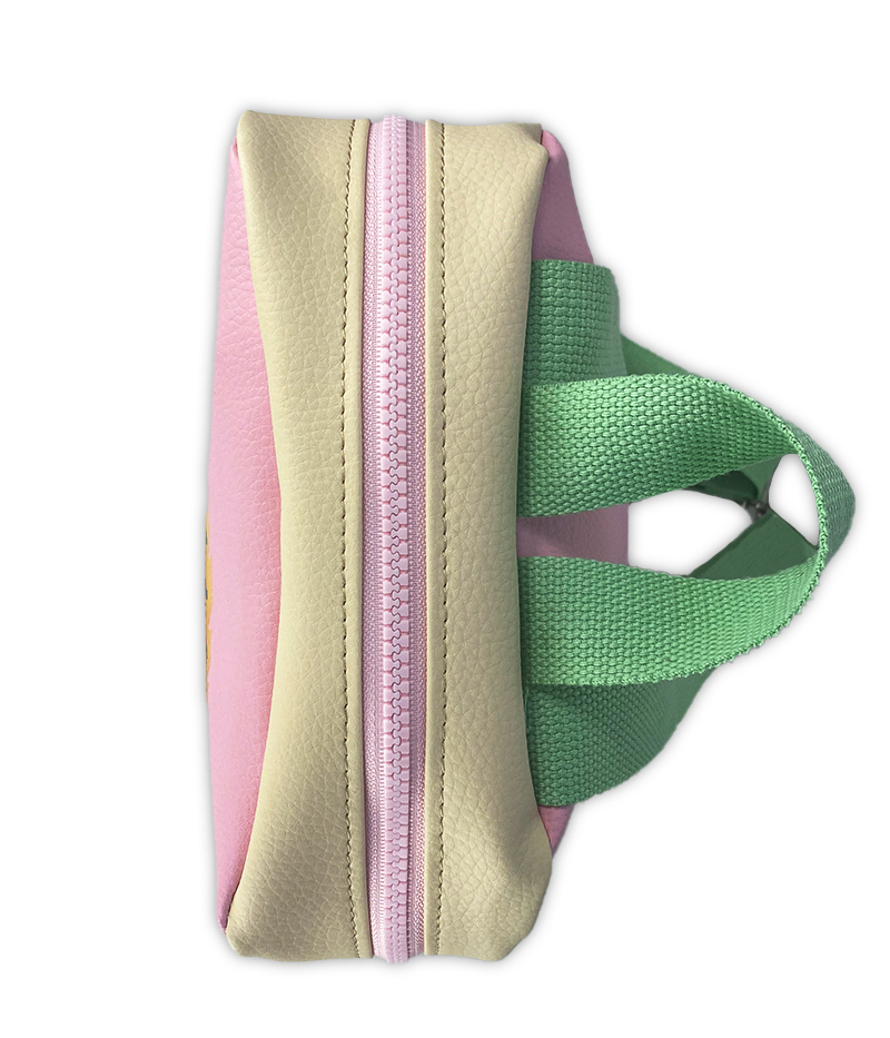 Zaino tempo libero personalizzato rosa verde e panna
